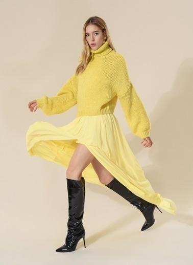 Agenda Uzun Abiye Elbise Sarı